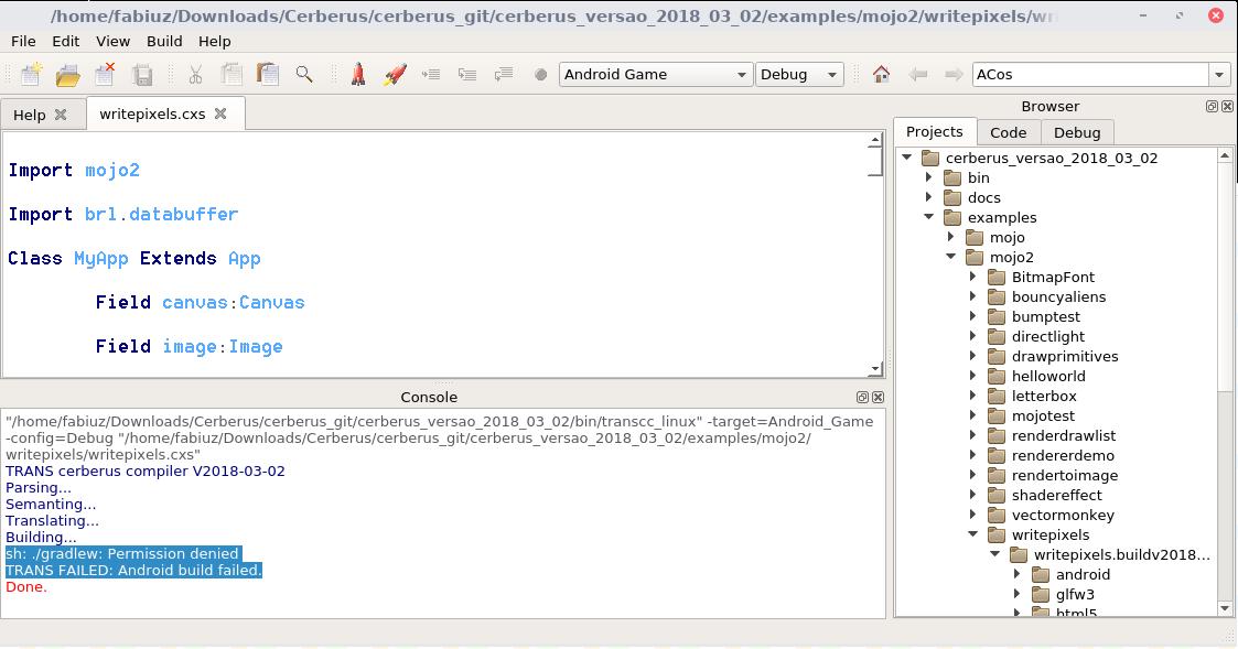 Fixed on GIT - Erro: sh:  /gradlew: Permission denied | Cerberus X